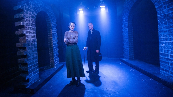 Jemima Watling as Eliza Medhurst and Toby Wynn-Davies as Chandos Bellingham in Phil Willmott's 2019 production of After Dark at London's Finborough Theatre. Photo: Sheila Burnett