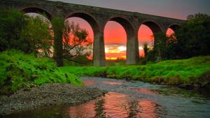 Early morning at Tassagh Viaduct near Keady, County Armagh.