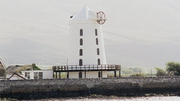 Blennerville Windmill at Tralee Bay, County Kerry, in May 1988.