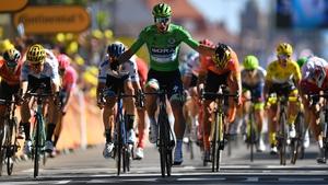 Sagan won the 175.5km stage from Saint-Die-des-Vosges in a sprint finish