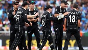 New Zealand players in celebratory mood