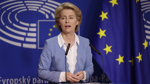 "Ursula von der Leyen warned London that it must take responsibility for ""sorting out"" Brexit"
