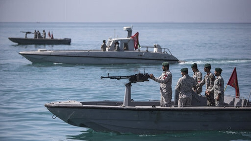 An Iranian patrol in the Strait of Hormuz in July