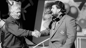 1994: Gay Byrne and Brendan Grace during Telethon