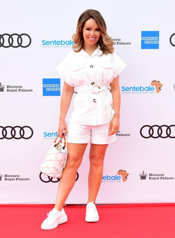Katie Piper in all white last month (Ian West/PA)