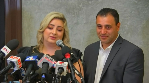 Anni and Ashot Manukyan said a complete stranger in New York gave birth to their child