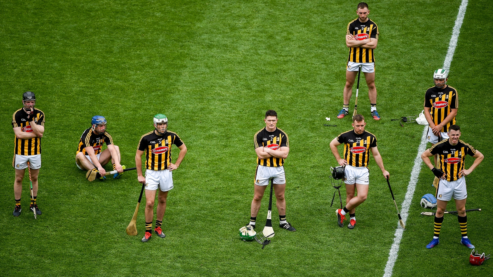 Image - Kilkenny players after the Leinster final