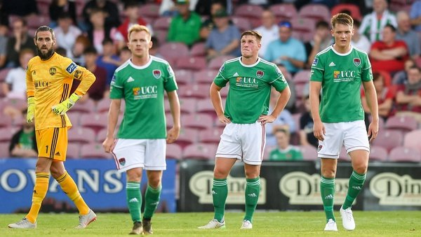 Cork City players react to the home defeat