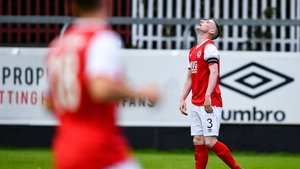 Ian Bermingham reacts to the concession of a goal to Norrkoping at Richmond Park