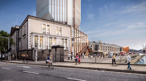 An artist's impression of the new development at Cork's Custom House Quay