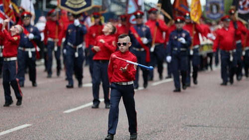 Marching bands paraded through the streets of Belfast