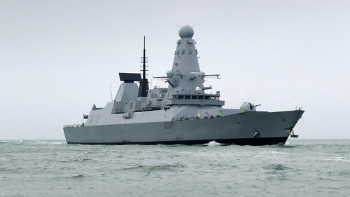 The HMS Duncan carries a set of heavy Harpoon anti-ship missiles and a crew in excess of 280