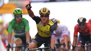 Groenewegen edged out Caleb Ewan on the line