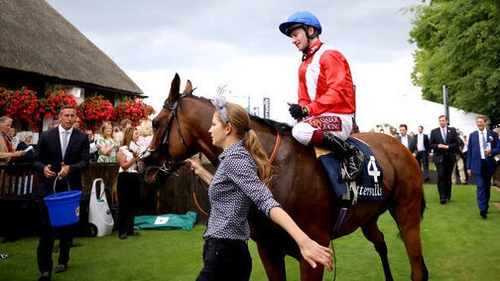 Oisin Murphy after winning The Tattersalls Falmouth Stakes with Veracious