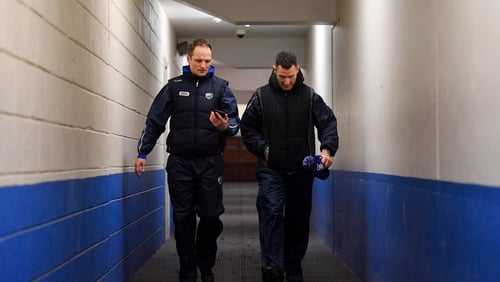 Laois selector Tommy Fitzgerald, left, with strength & conditioning coach Niall Corcoran