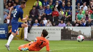 Mason Mount slots home his goal for Chelsea