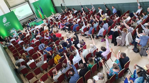 The Green Party convention was booked out following a recent surge in membership