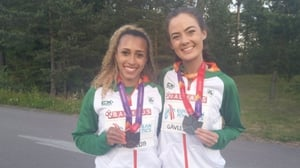 Nadia Power and Eilish Flanagan with their medals