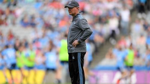The Dubs manager walked the pitch before throw-in