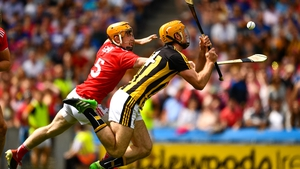 Colin Fennelly of Kilkenny, under pressure from Niall O'Leary