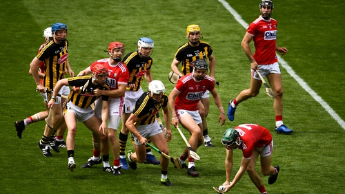 Mark Coleman of Cork comes away with possession