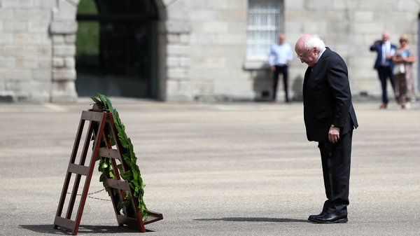 President Higgins laid a wreath on behalf of the people of Ireland