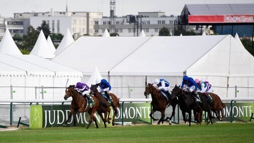 Japan and Ryan Moore hit the front at Longchamp