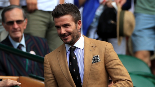 David Beckham in the Royal Box at Wimbledon