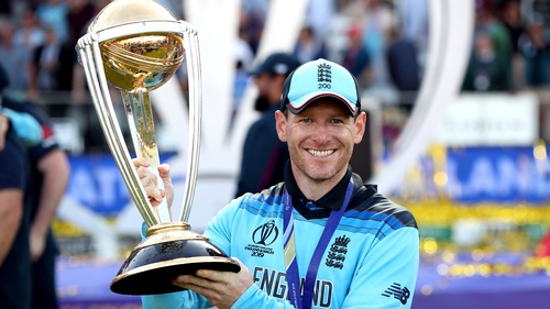 Eoin Morgan led England to the ODI World Cup last week