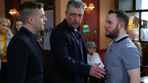 George McMahon as Mondo, Karl Shiels as Robbie and David O'Sullivan as Decco (2018)