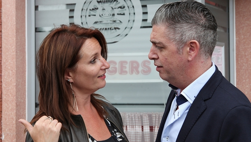 Karl Shiels arrived in Carrigstown in 2014 as Robbie Quinn and sparks flew between him and Carol (Aisling O'Neill)