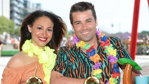 Amelle Berrabah and Joe McElderry star in the new musical Club Tropicana
