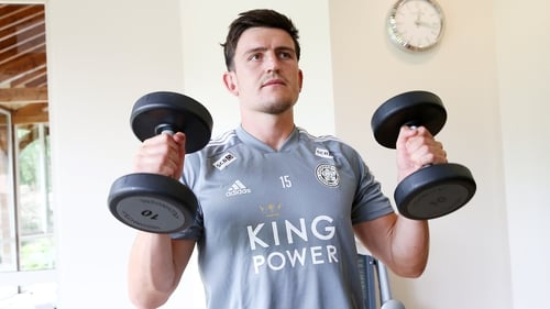 Harry Maguire present for Leicester City's pre-season friendly