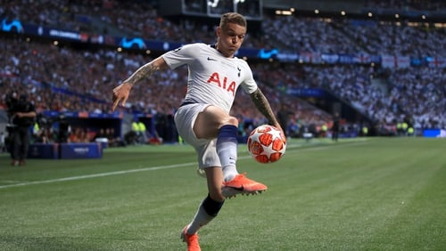 Kieran Trippier signed a five-year deal with Spurs in 2017