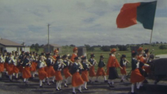 Participants in Land League Centenary parade, Straide, Co. Mayo (1979)