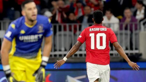 Rashford got on the scoresheet for United