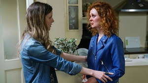 Charlotte is shocked when Julia arrives at her door on Fair City