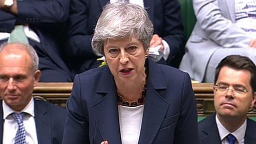 Theresa May gave her final major speech as British Prime Minister in the House of Commons today