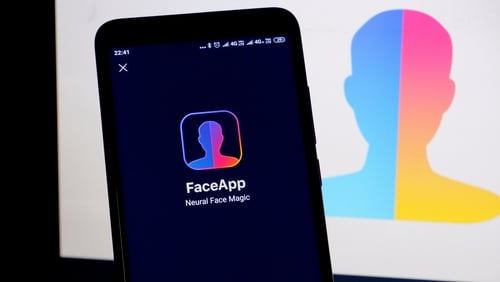 The app uses a filter that ages photos of users' faces