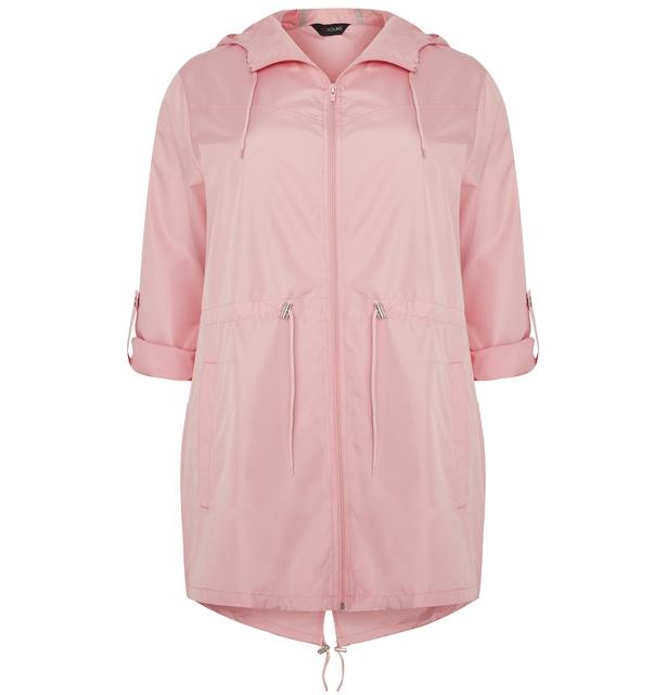 Yours Pink Pocket Parka Jacket With Hood
