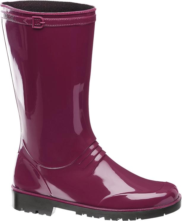 Graceland Magenta Long Leg Wellington Boots
