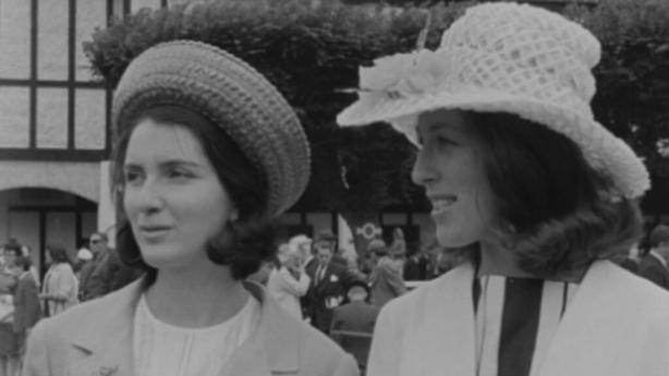 Fashionably dressed ladies, Dublin Horse Show (1964)