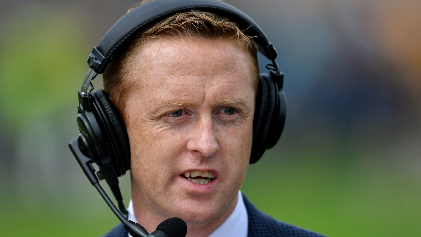Image - Colm Cooper on commentary duty for RTÉ