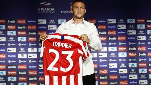 Kieran Trippier has been unveiled as an Atletico player