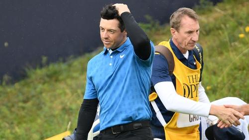 Rory McIlroy endured a torrid time in Portrush