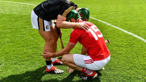 Down and out: Cork hurlers
