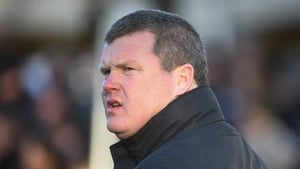 Trainer Gordon Elliott sought to explainhis actions by saying he sat down after receivinga phone call