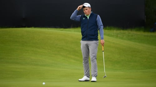 James Sugrue matched Darren Clarke on the first day of The Open