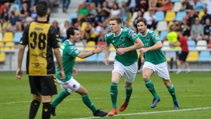 Garry Buckley of Cork City celebrates his early goal
