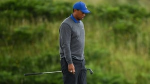 Tiger Woods struggled throughout at The Open